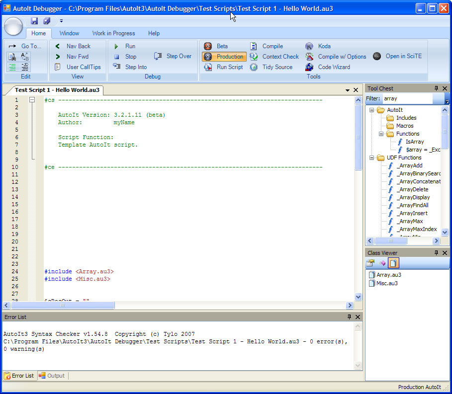 Stumpii's Graphical AutoIt Debugger