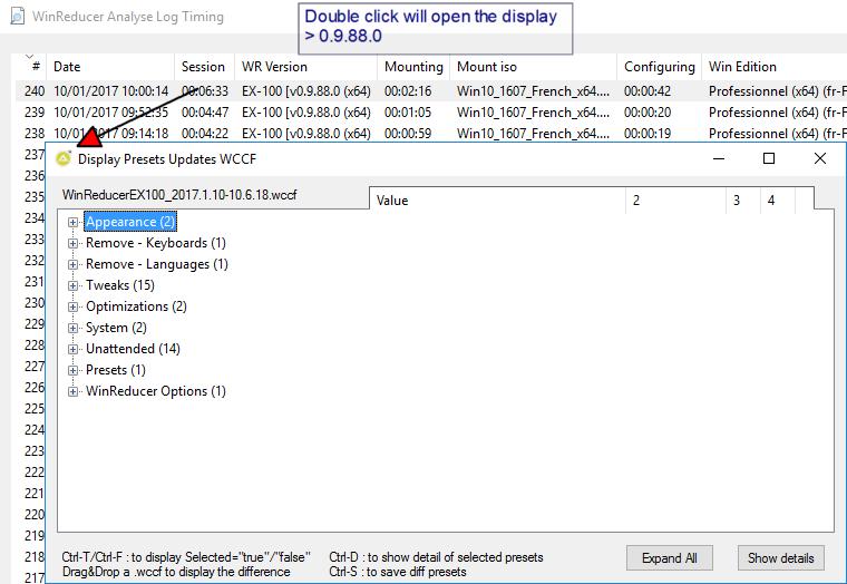 WinReducer Log Analyser WinReducer_Analyser&Display