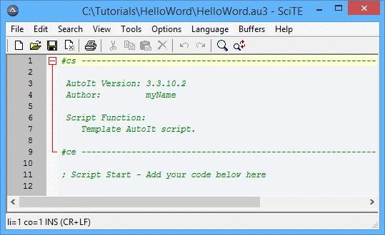 Tutorial - HelloWorld