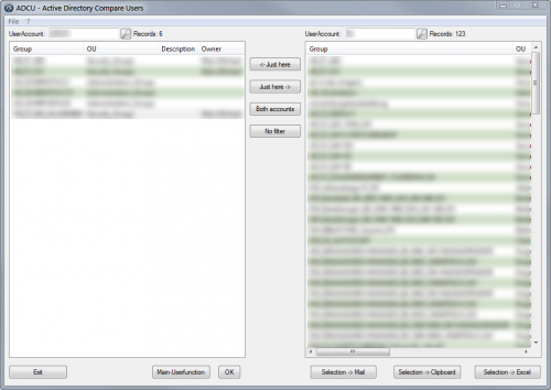 ADCU - Active Directory Compare Users