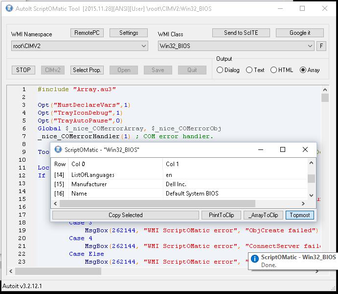 ScriptOMatic w/ArraySupport - Information gathering - AutoIt