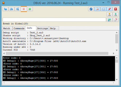 Dbug - another debugger for AutoIt - Scripting and