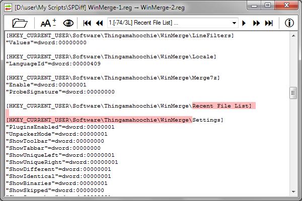 SPDiff: Single-Pane Text Diff - AutoIt Example Scripts - AutoIt Forums
