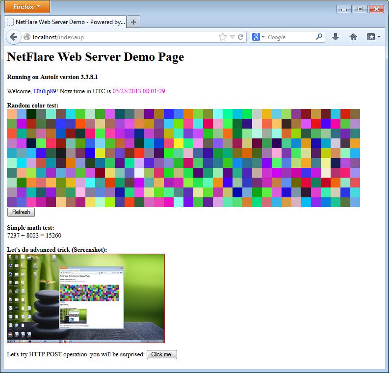 NetFlare Web Server (Version 0 3) - AutoIt Example Scripts - AutoIt