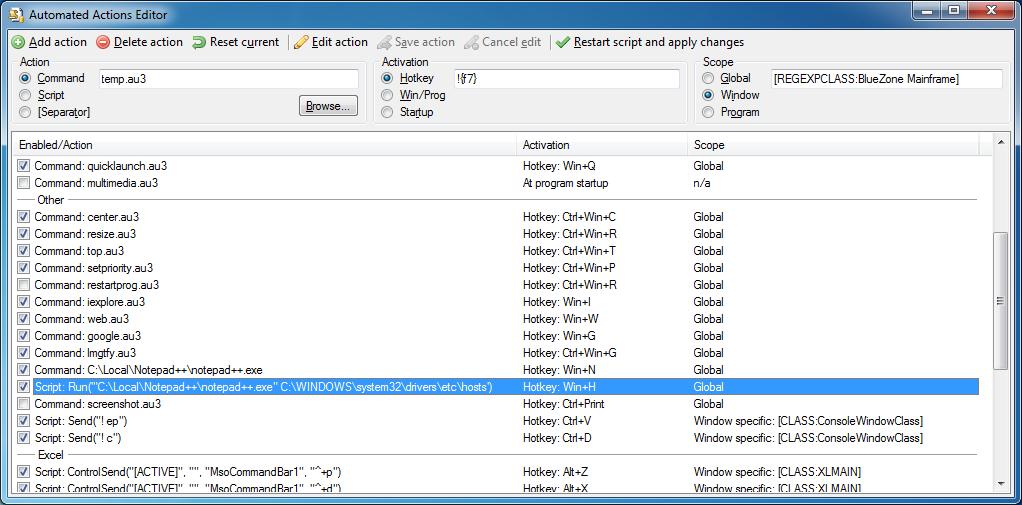 Autoit Based Hotkey Macro System Autoit Example Scripts Autoit