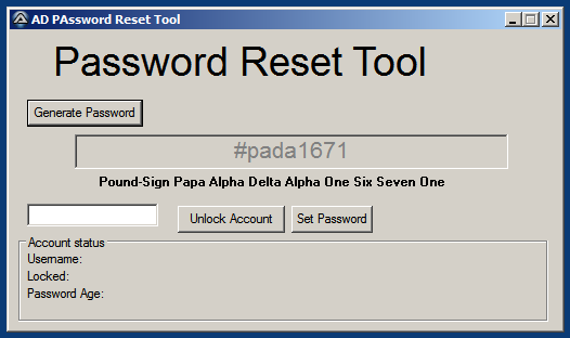 Simple password generator tool for a Help Desk - AutoIt Example