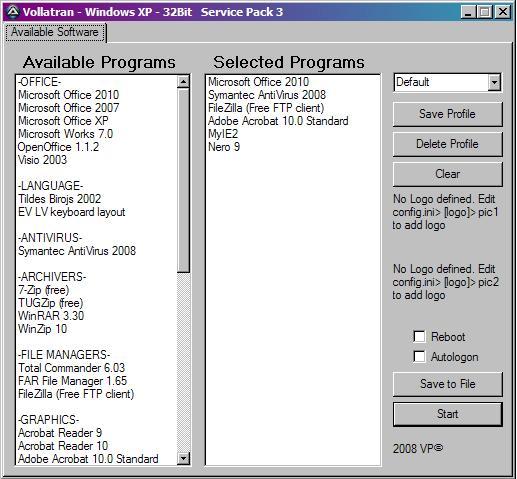 The Vollatran Project - Application Installer tool - AutoIt