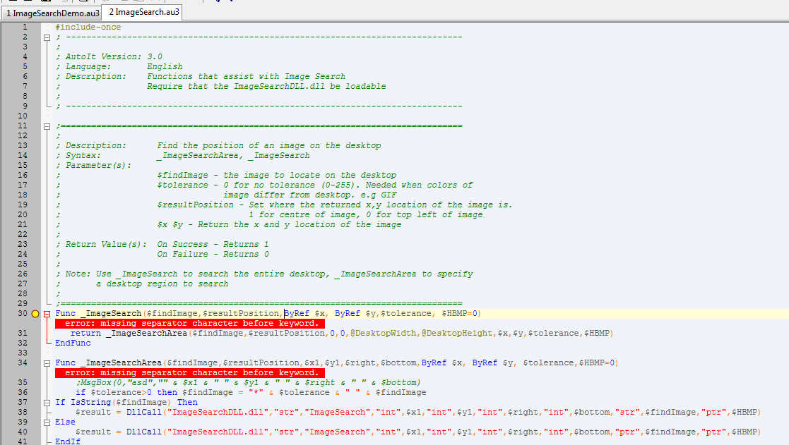 ImageSearch Usage Explanation - Page 2 - AutoIt Example