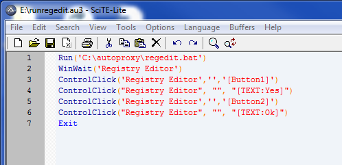 Help creating script to run a batch file and hit OK to