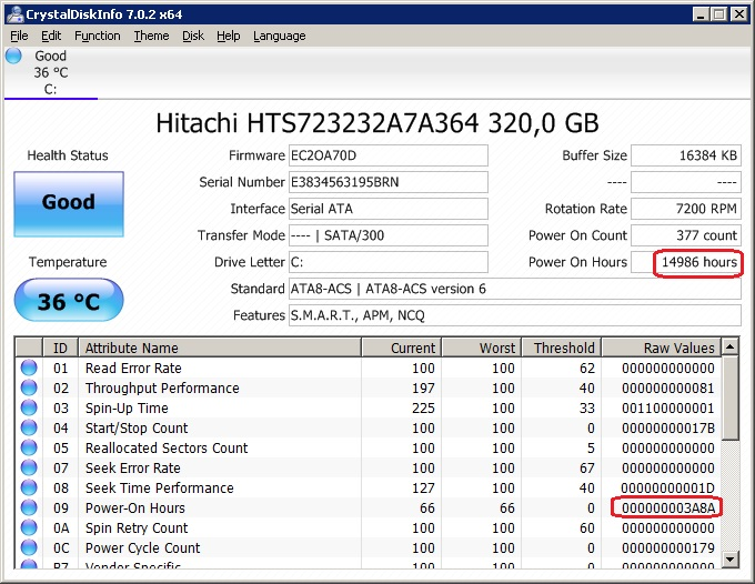 Get Power On Hours Hard Disk - AutoIt General Help and Support