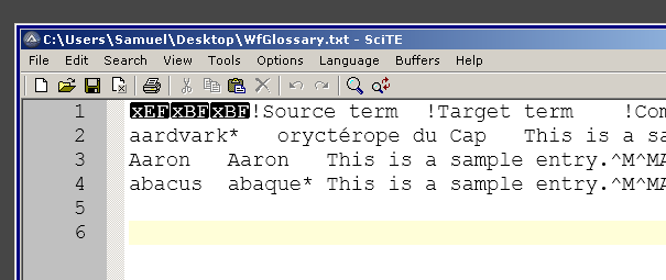 WfGlosasry txt in SciTE editor.png