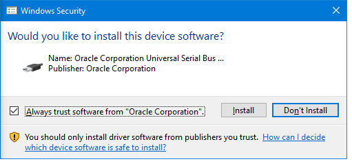 Cannot Automate Win 10 Driver Confirmation Dialog Box