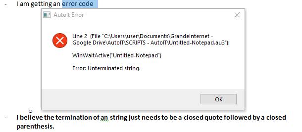 3-17-18 - Unterminated String Error Code.PNG