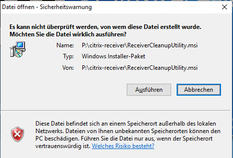 Windows Security Warning (Citrix Cleanup Utility) - AutoIt General