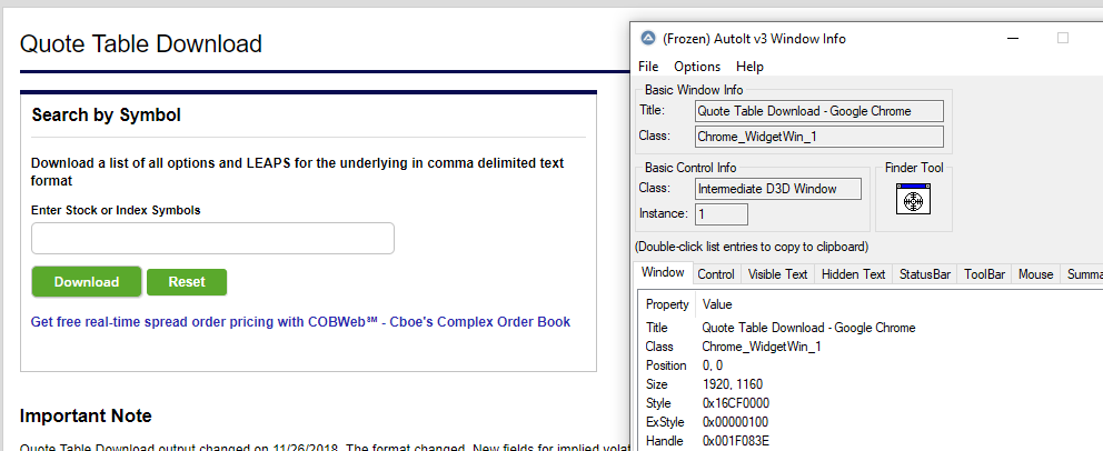 Problem to fill in data with google chrome - AutoIt General Help and