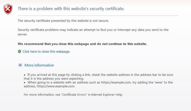 internet explorer security certificate - AutoIt GUI Help and