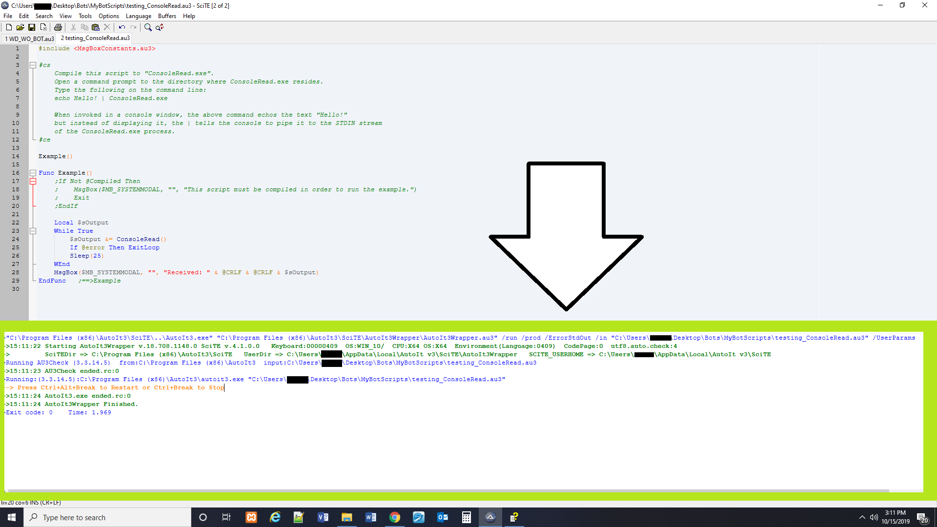 SOLVED] How to send the console output to a file   AutoIt General ...
