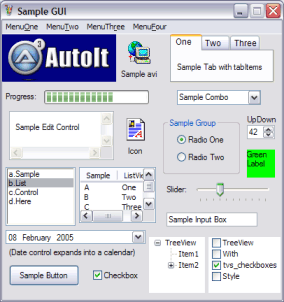 AutoIt full screenshot
