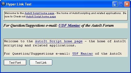 Example GUI using Gary's UDF.